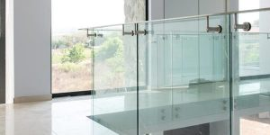 Glass balustrades for decking